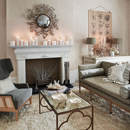 Soft grey and cream living room