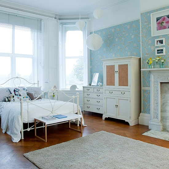 Duck Egg Wallpaper Bedroom Ideas Large Duck-egg Blue Bedroom | Decorating | Housetohome.co.uk