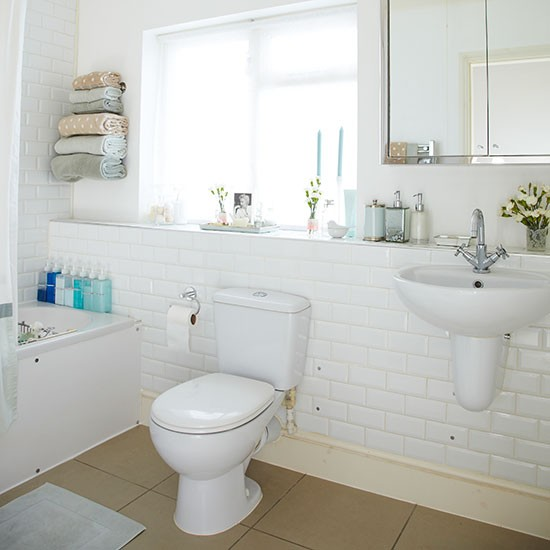 Traditional Bathroom With White Tiles Decorating Housetohome Co Uk