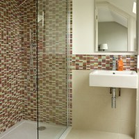 White bathroom with mosaic tiles | Decorating ...