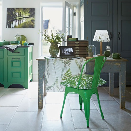home office green painted furniture botanical inspired room green painted rooms