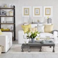 Pale grey and lemon yellow living room | Grey and yellow ...