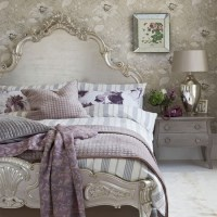 Grey bedroom with opulent silver headboard | 20 gorgeous ...