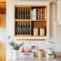 Rustic kitchen with modern plate rack | housetohome.co.uk