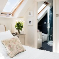 Loft conversion with ensuite bathroom and Velux windows ...
