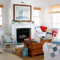 Americana living room with coastal accents   Americana ...