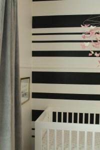 DIY black & white stripe wall | House To Home Blog