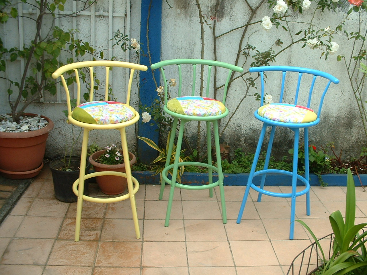 Bright Colored Bar Stools Paint Your Barstools House Tropical