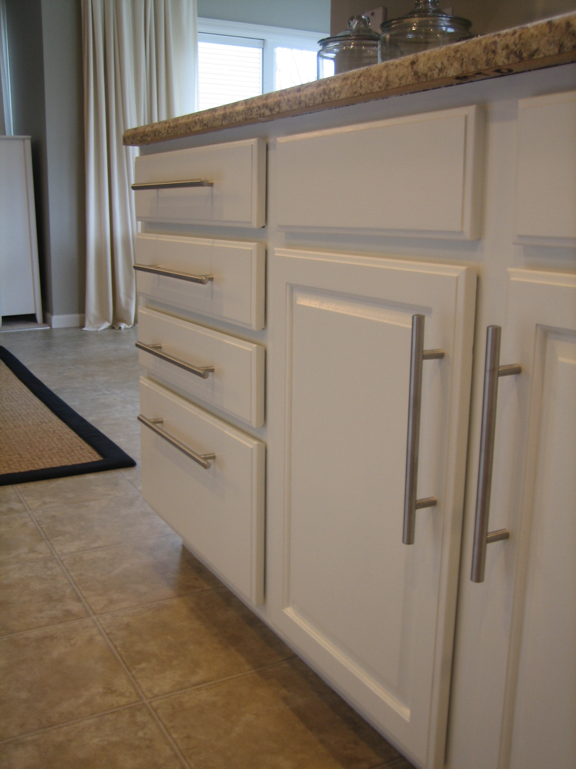 Painted Oak Kitchen Cabinets Painting Kitchen Cabinets White Casual Cottage