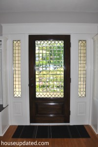 Front Door Stained and Trimmed