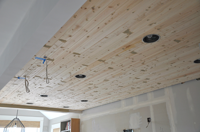 Diy How To Paint A Planked Ceiling For A Perfect Finish