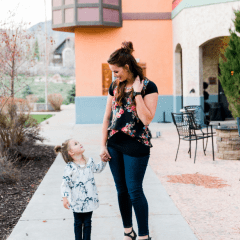 Black Floral and Denim//Mommy and Me