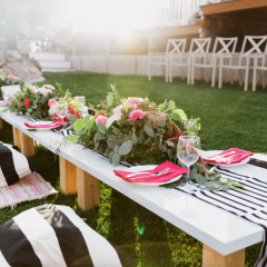 How To Be A Better Hostess – Black & White Floral Party