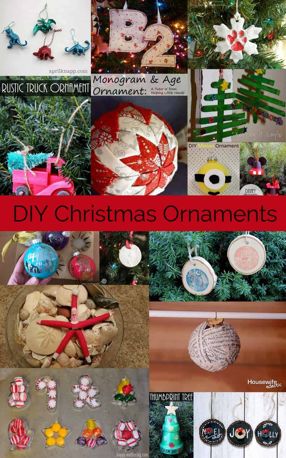 Diy Christmas Ornaments Diy Christmas Ornaments Housewife Eclectic