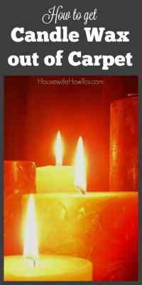 How To Get Candle Wax Out Of Carpet  Housewife How-To's