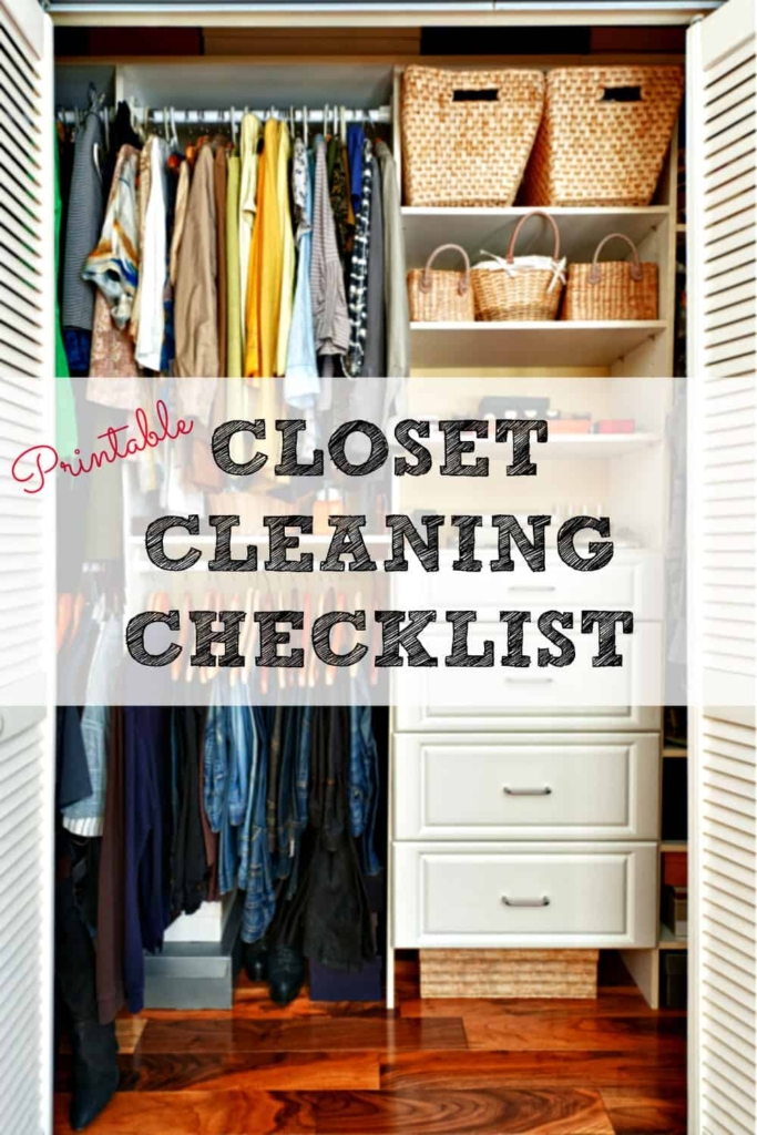 Closet Cleaning Checklist - Get your closet clean and organized today!