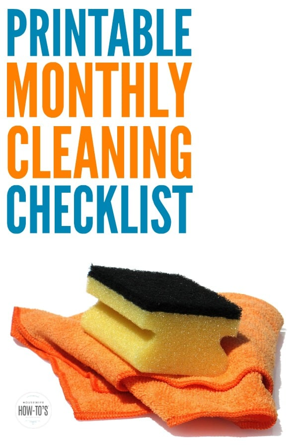 Printable Monthly Cleaning Routine » Housewife How-Tos®