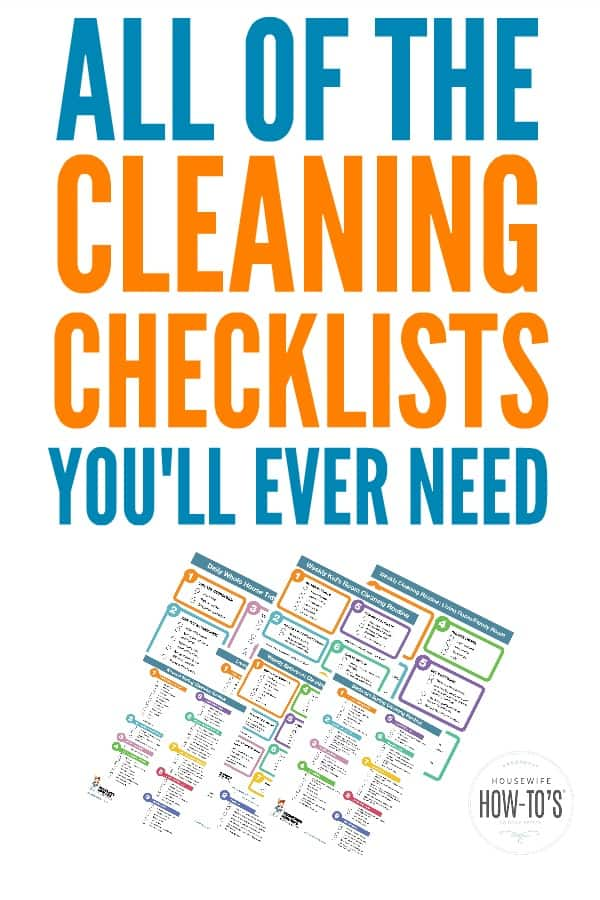 Cleaning Checklists - Free Printable Home Cleaning Routines