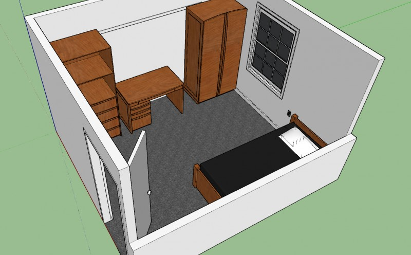 Dorm Room Furniture Layout Townhouses West – Residential Education And Housing
