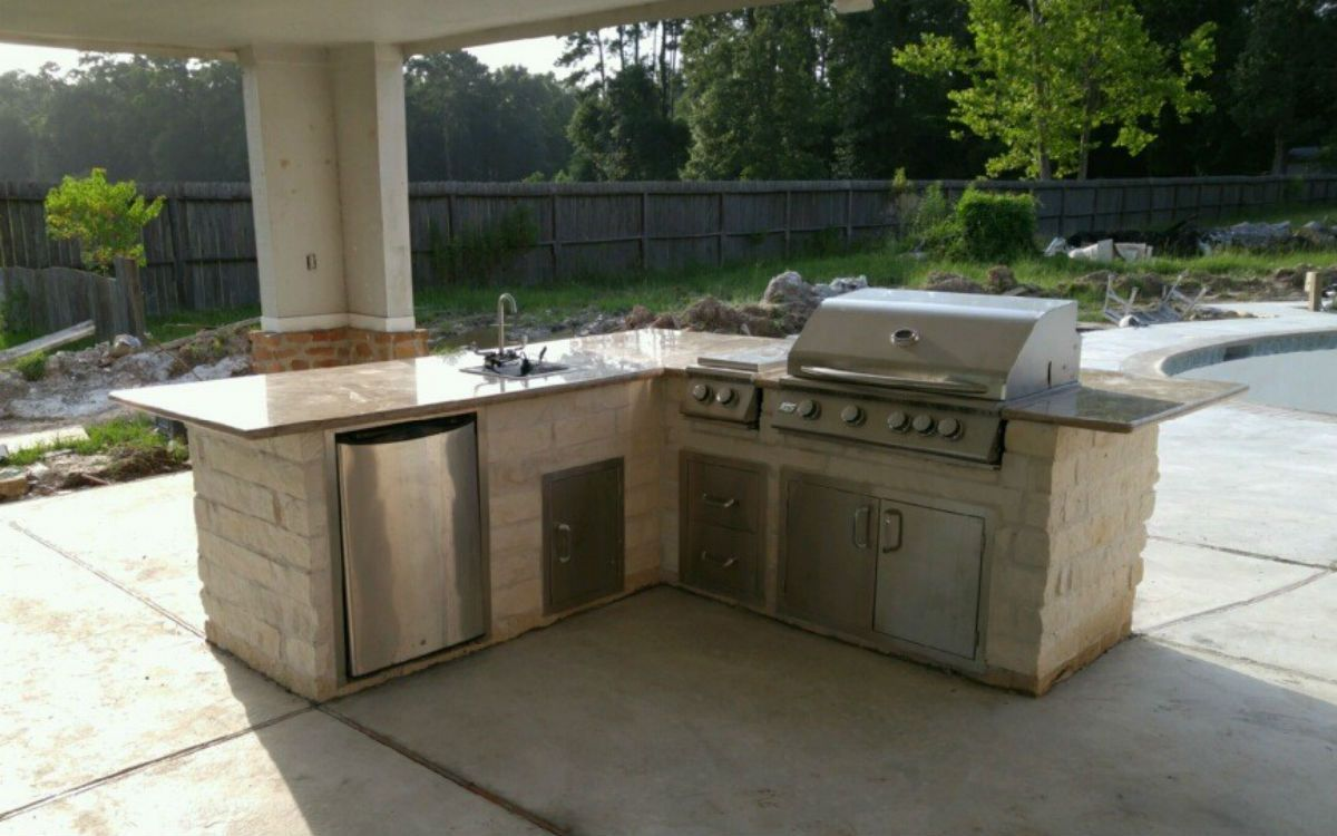 Outdoor Kitchen Island Houston Tx Outdoor Kitchen By The