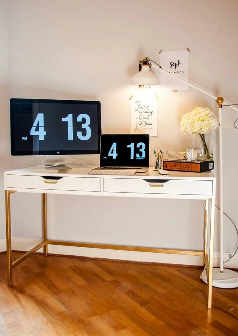 8 Inspiring Ikea Micke Desk Hacks In 2021 Ideas Houszed