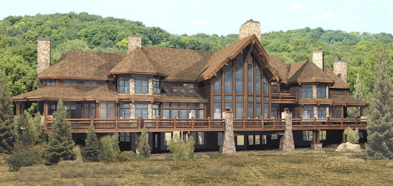 luxury log home planspendleton estate log homes cabins log home style home plans ranch style homes house luxury log home plans