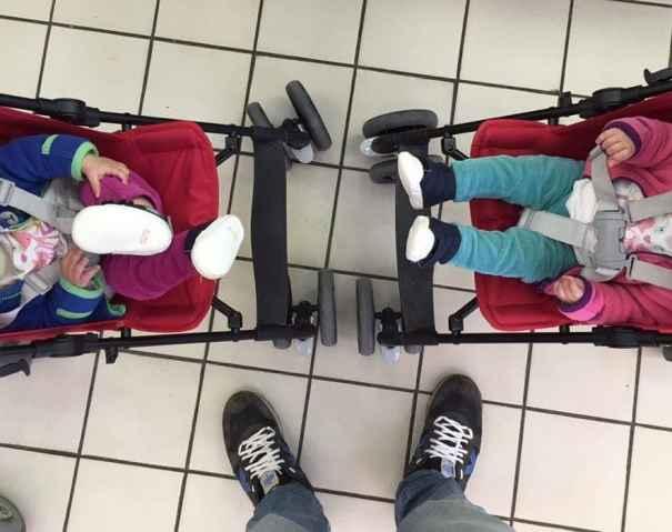 6 trucos para acostumbrar a tus niños gemelos a viajar