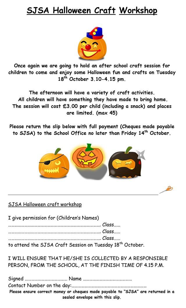 Advisory Centre For Education Ace Sjsa Halloween Craft Workshop St Johns Community