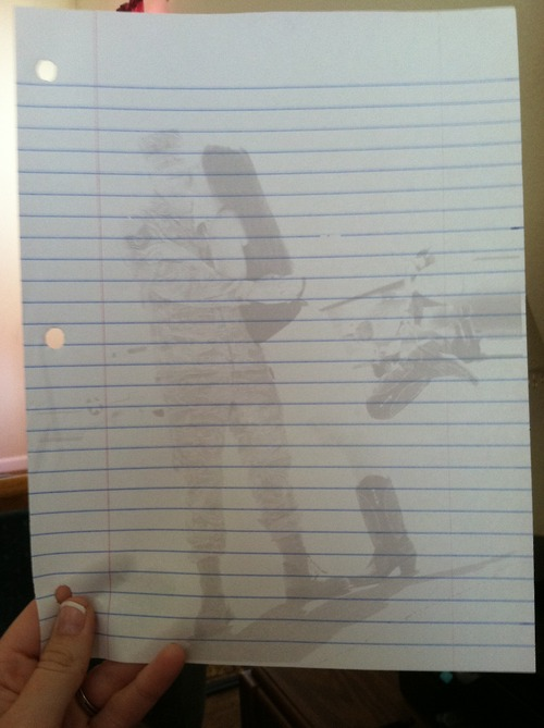 Print \u201cwashed out\u201d pictures onto lined paper for writing letters To