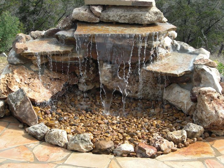 Pond-less Waterfall Design Ideas