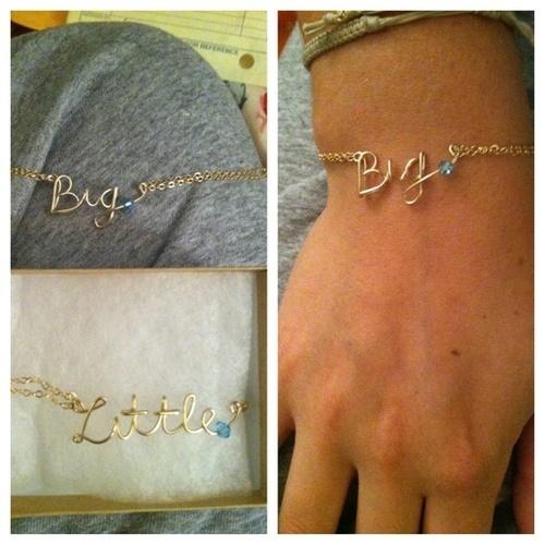 Sorority big and little bracelets