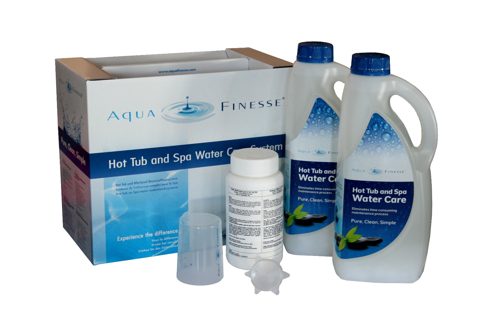 Chlortabletten Pool Ebay Aqua Finesse Hot Tub Box Whirl Pool Wasser Pflege Set 2x2l