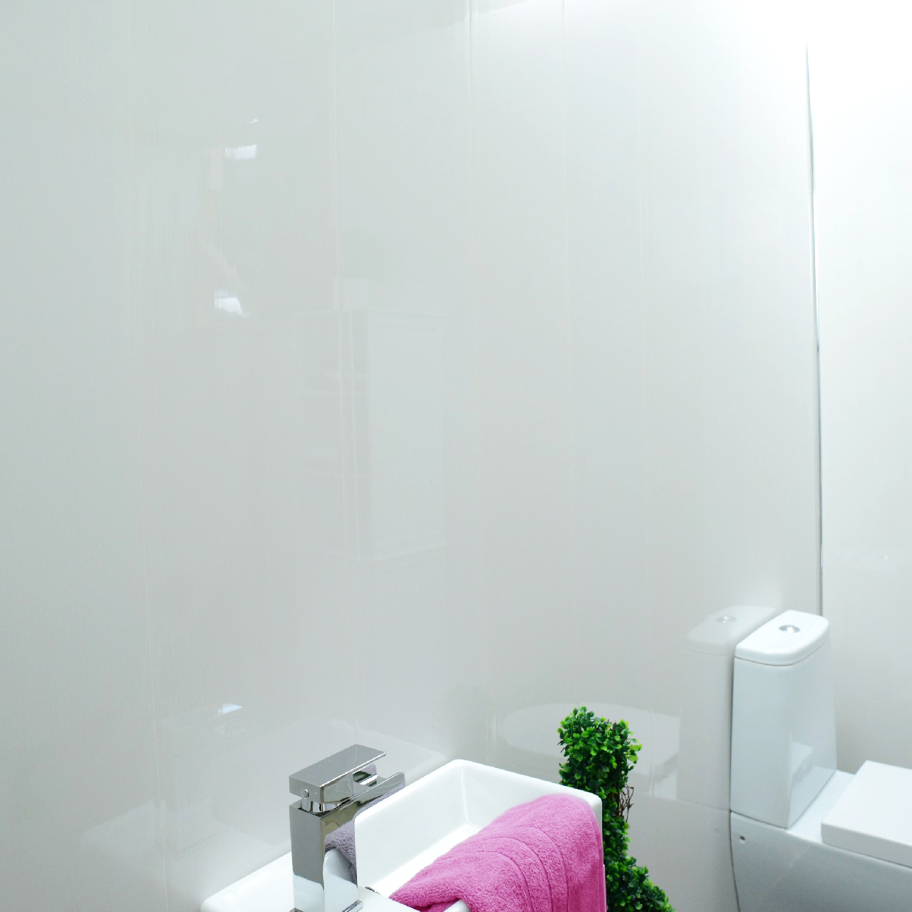 10 Gloss White Bathroom Panels Pvc Ceiling Cladding Shower Wall Kitchen Wc Ebay