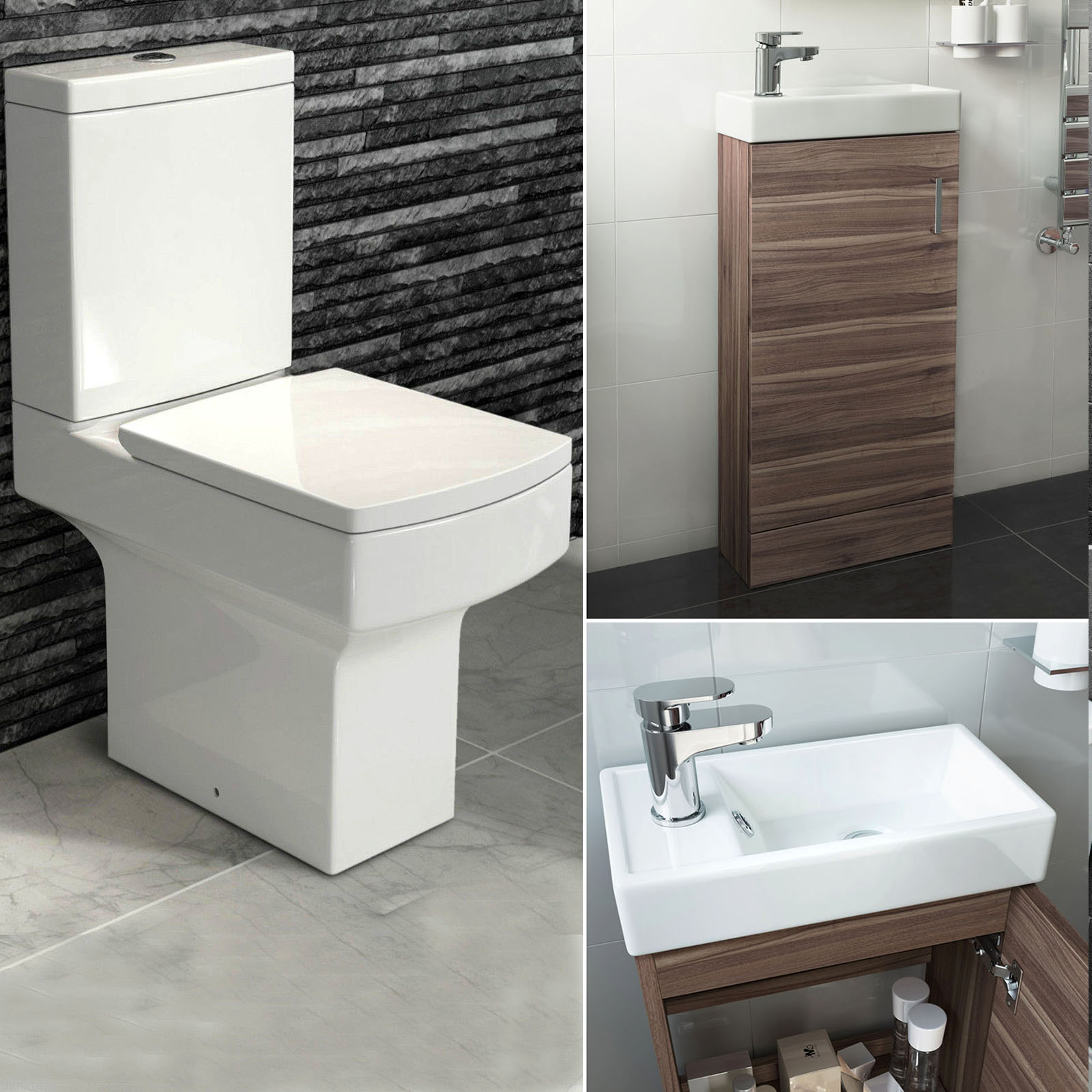Complete Vanity Units Complete Cloakroom Bathroom Suite With Square Toilet And
