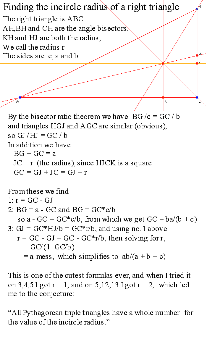 G1 Find Area Of Right Triangles, Other Triangles, Special Quadrilaterals  How To Find The Radius Of A Inscribed Circle