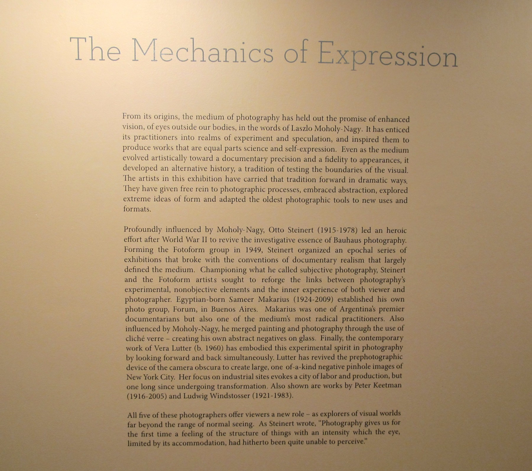 The Mechanics Of Expression Main Gallery Exhibitions Howard Greenberg Gallery