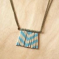 Patterned Fringe Beaded Necklace