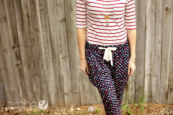 Mixing Polka Dots and Stripes Fun wtih Your Summer Wardrobe