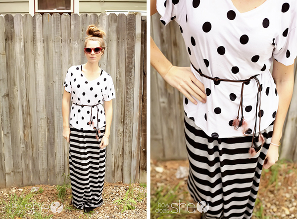 Mixing polka dots and stripes - stripes with polka dots