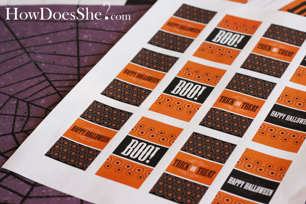 Free Halloween Printables - Candy Bags and Mini Candy Bar Wrappers