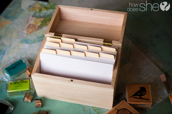 Memories Saved in Seconds Keep a Memory Box - make index card