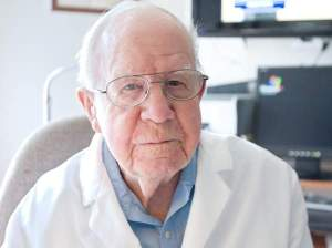 "PHOTO COURTESY OF LIVINGSTONDAILY.COM/Dr. Louis ""Pat"" May, known around Howell as Doc May."