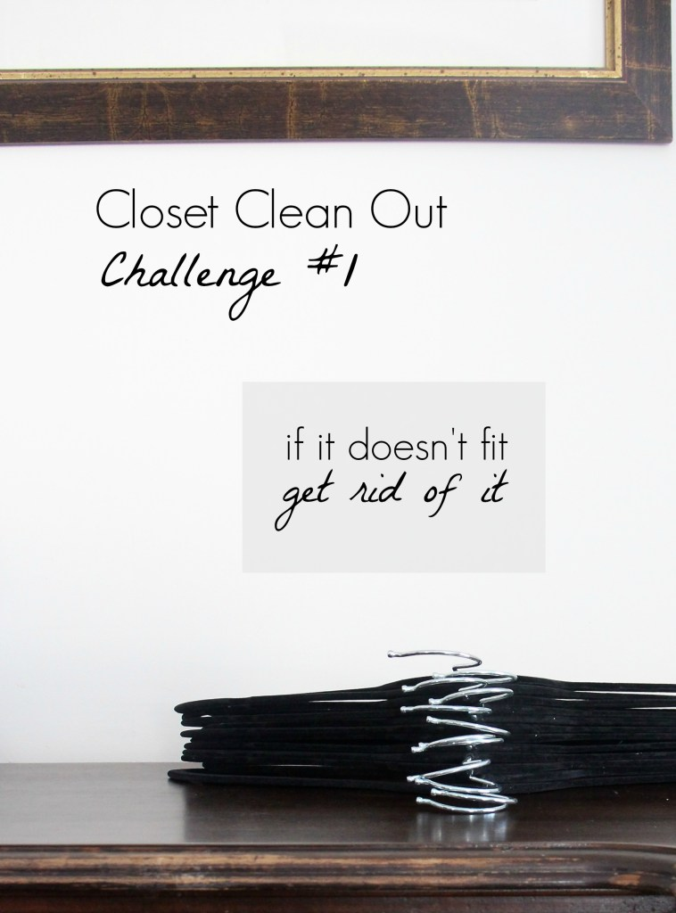 Closet Clean Out Challenge #1: If it doesn't fit, get rid of it