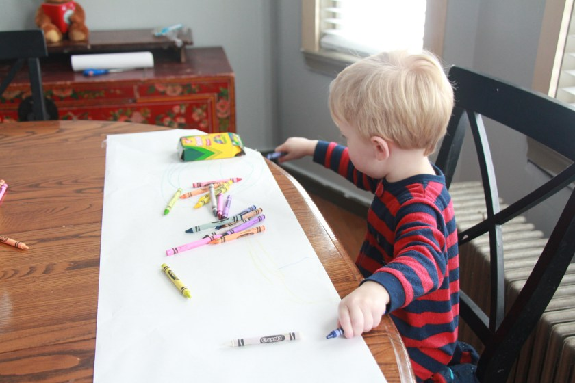 Anatomy of a Snow Day: and Max KEEP THE CRAYONS ON THE PAPER