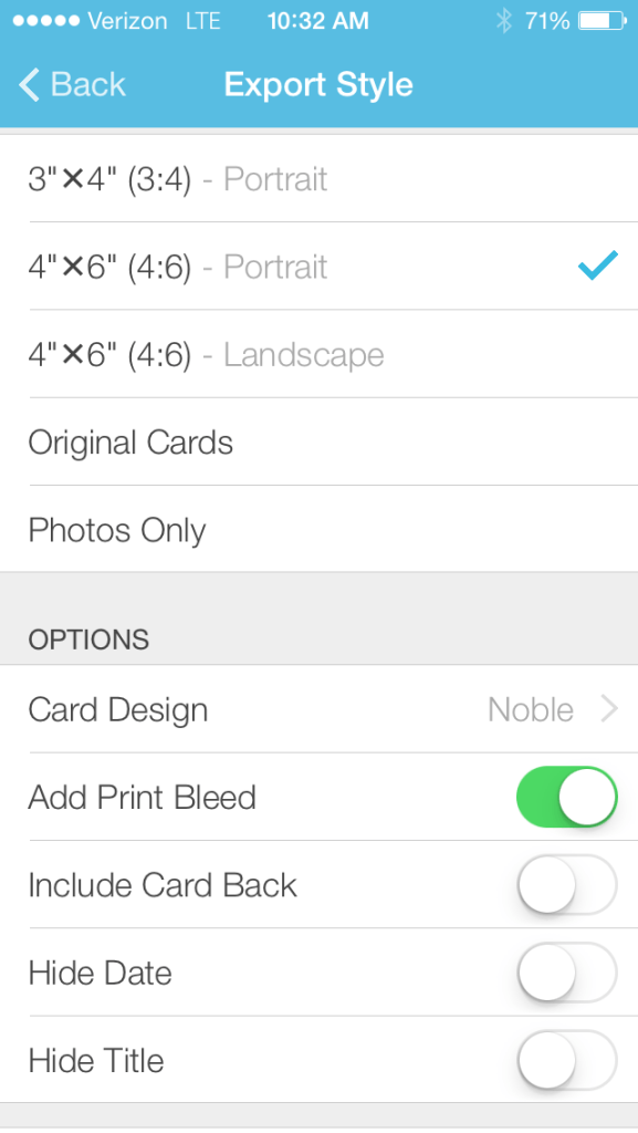 Collect Photo App | Steps to Export Photos