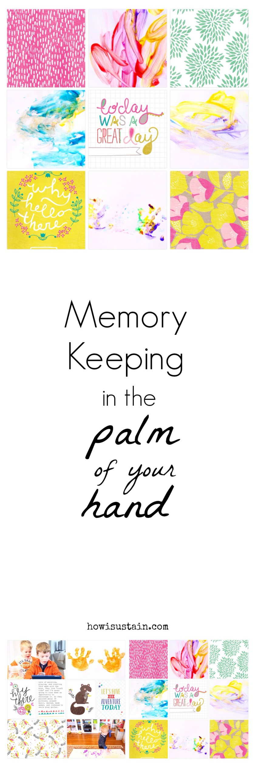 Memory Keeping in the Palm of you Hand. Tips & layouts by Julie Gagen   Project Life Creative Team - Project Life App