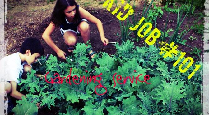 Kids Weeding and Gardening for Money