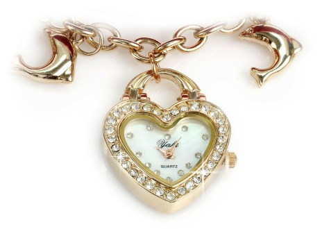 heart shape women's watch wristlette