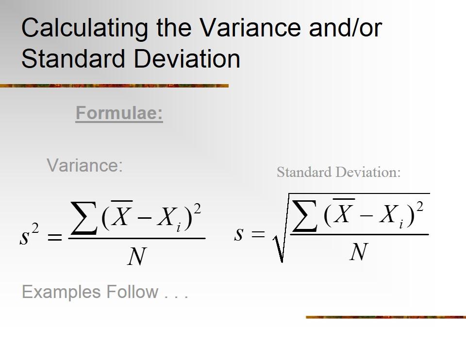Sample Variance Computational Formula | Resume Cover Letter ...
