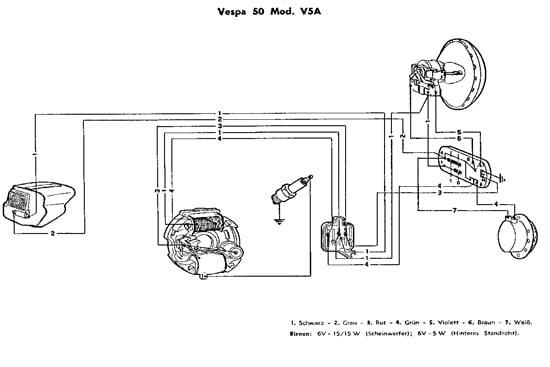 Vespa Wiring Diagram - Schema Wiring Diagram